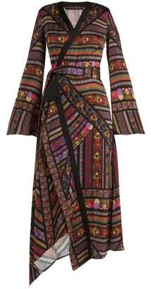 Etro Fluorite Printed Crepe Dress - Womens - Black Print
