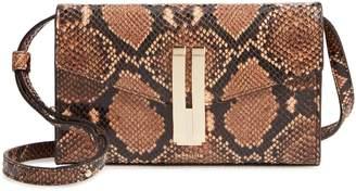 DeMellier Quebec Snake Embossed Leather Crossbody Bag