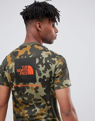 The North Face Red Box T-Shirt in Macrofleck Print