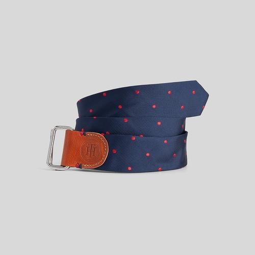 Tommy Hilfiger Women's Polka Dot Tie Belt