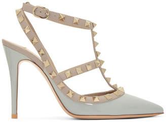 Valentino Grey Garavani Rockstud Heels