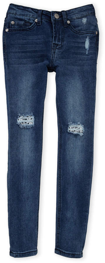 7 For All Mankind (Girls 7-16) The Skinny Distressed Jeans