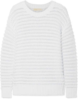 MICHAEL Michael Kors Open-knit Cotton-blend Sweater - White