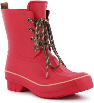 Western Chief Womens Rain Boots Lace Up Waterproof Flat Heel Pull-on Wide Width