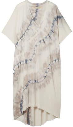 Raquel Allegra Oversized Tie-dyed Cotton-blend Stretch-jersey Dress - Stone