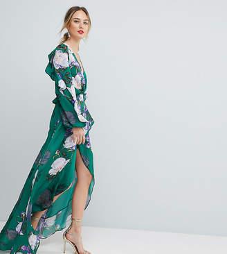 Asos Tall TALL Floral Print Ruffle Maxi Dress