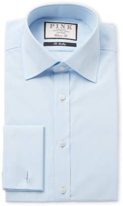 Thomas Pink Light Blue Solid Classic Fit Dress Shirt