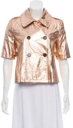 Gryphon Metallic Cropped Jacket