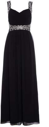 Dorothy Perkins Womens *Quiz Black Embellished Maxi Dress