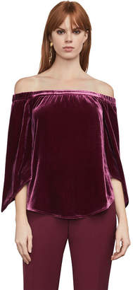 BCBGMAXAZRIA Sabbie Velvet Off-The-Shoulder Top