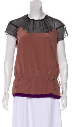 Vena Cava Silk Short Sleeve Top