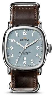 Shinola Stainless Steel Guardian41 Strap Chronograph Watch