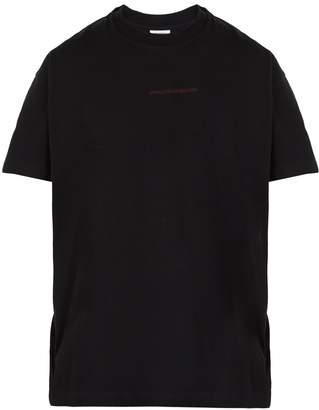 Vetements Free Hugs-print multi-way cotton T-shirt