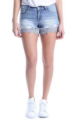 KUT from the Kloth Allison Lace Border Denim Shorts