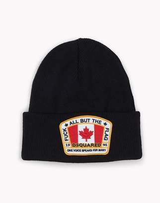 DSQUARED2 Canada Patch Knit Beanie