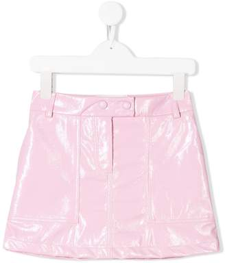 Alberta Ferretti Kids patent effect mini skirt