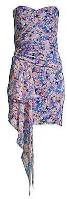 Shoshanna Women's Tissa Metallic Floral Print Mini Dress