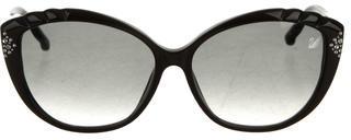 Swarovski Da-Yu Cat-Eye Sunglasses $145 thestylecure.com