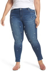 2706ceb9054 KUT from the Kloth Brigitte Embellished Skinny Ankle Jeans