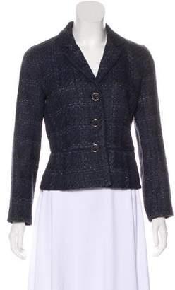 Tory Burch Notch-Lapel Tweed Blazer