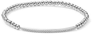 Aqua Sterling Silver Beaded Stretch Bracelet - 100% Exclusive