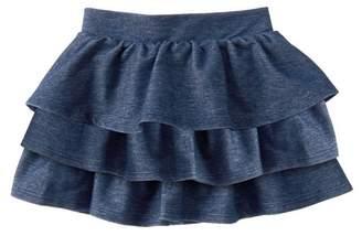 Crazy 8 Knit Denim Ruffle Skirt