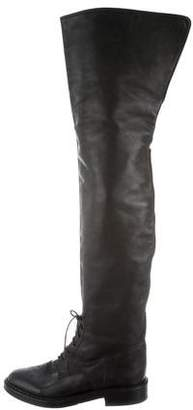 Chanel CC Thigh-High Boots