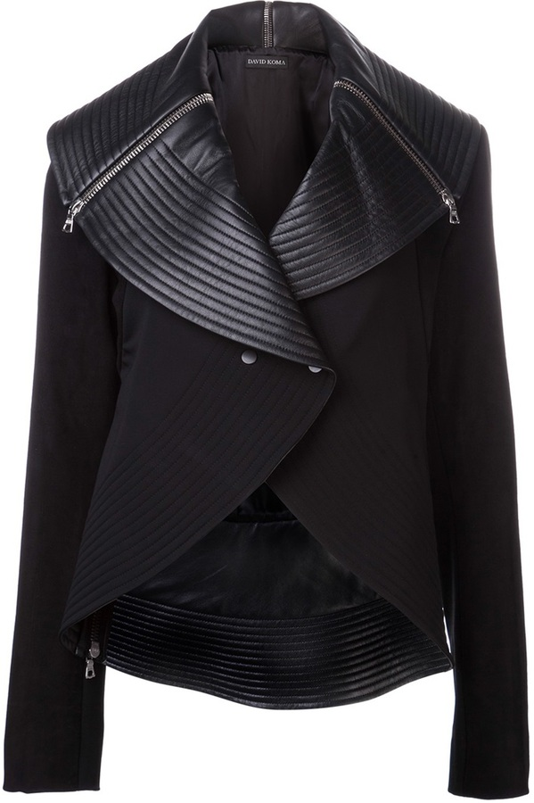 David Koma lamb leather jacket