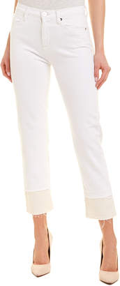 Hudson Jeans Jeans Zooey Stepped White High-Rise Straight Crop