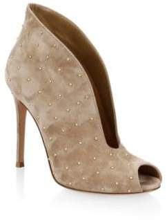 Gianvito Rossi Studded Suede Booties