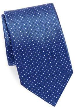 Canali Mini Dot Silk Tie