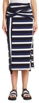 3.1 Phillip Lim Striped Wrap Maxi Skirt