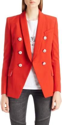 Balmain Oversize Wool Blazer