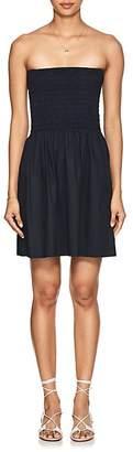 ATM Anthony Thomas Melillo Women's Smocked Cotton Poplin Minidress