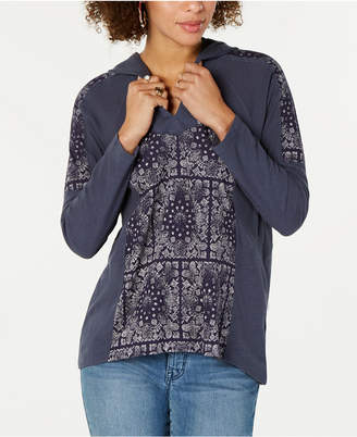 Style&Co. Style & Co Petite Printed Hoodie Top