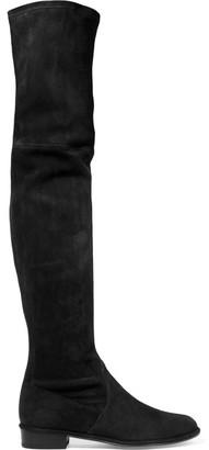 Stuart Weitzman - Thighscraper Suede Over-the-knee Boots - Black $845 thestylecure.com