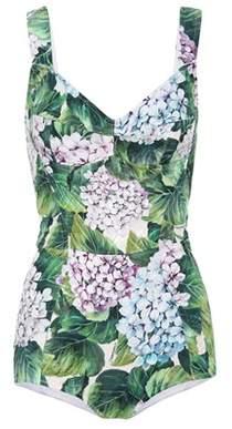 Dolce & Gabbana Floral-printed jacquard bodysuit