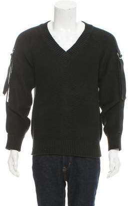 Chanel Logo V-Neck Sweater