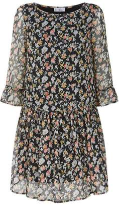 Claudie Pierlot Floral Crepe Mini Dress
