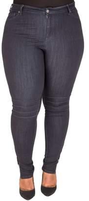 Justice Poetic Marley Pintuck Knee Moto Jeans