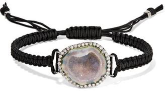 Kimberly McDonald - 18-karat Blackened White Gold, Geode And Diamond Bracelet