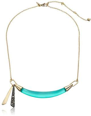 Alexis Bittar Small Lucite Bib Strand Necklace with Crystal Encusted Tassel