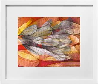 Corban & Blair Howard Gwynne Orange Leaves 2 Print in Slim Box Frame