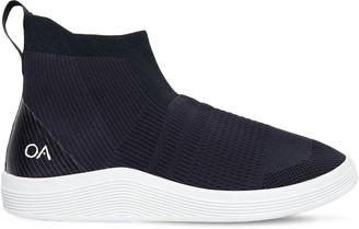 Knit Slip-On High Top Sneakers