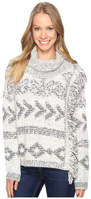 Lucky Brand Fringe Turtleneck Women's Clothing