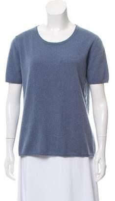 Malo Cashmere Knit Top blue Cashmere Knit Top