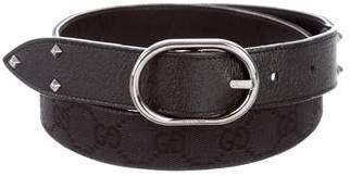 Gucci Studded GG Canvas Belt