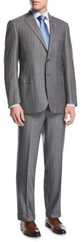 Brioni Brioni Striped Super 160s Wool Two-Piece Suit, Gray