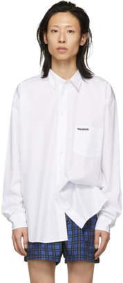 Vetements White Metal Ring Shirt