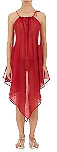 On The Island ON THE ISLAND WOMEN'S HANDKERCHIEF-HEM COTTON VOILE DRESS-RED SIZE M/L
